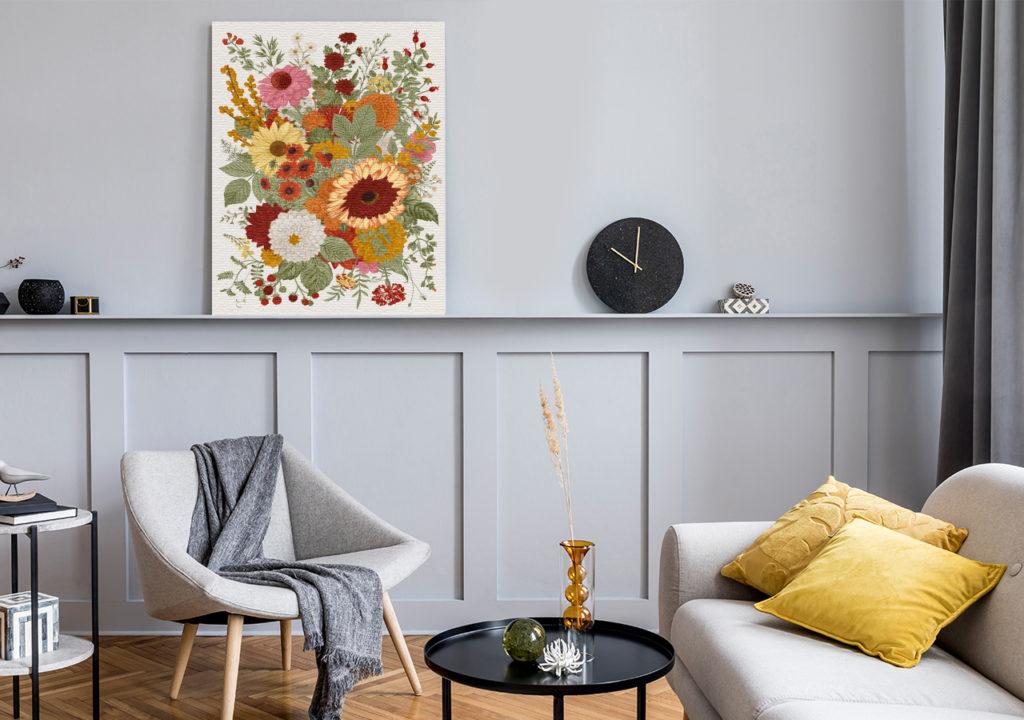 Bild Herbstblumen im Wohnzimmer