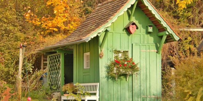 Gartenhaus winterfest machen