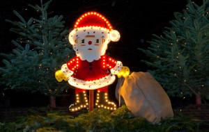 Weihnachtsmann Beleuchtung