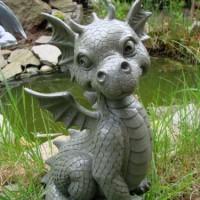 Ssser-Gartendrache-sitzend-Drache-Figur-Gargoyle-0