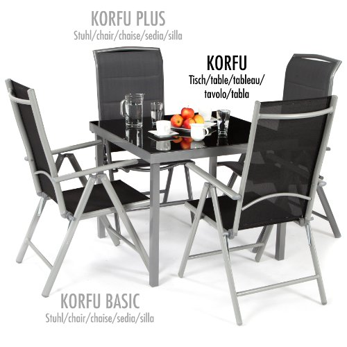 ultranatura aluminium gartentisch korfu seriegrau 0 1 garten blog. Black Bedroom Furniture Sets. Home Design Ideas