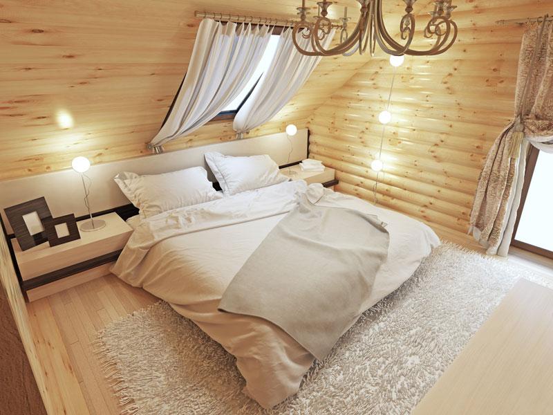 Gemütlich eingerichteter Schlafboden